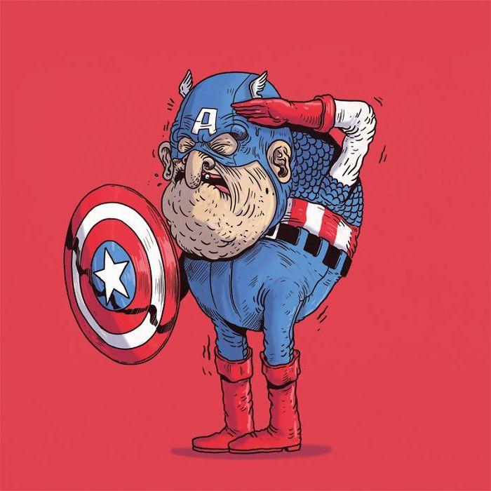 Yaşlı Captain America