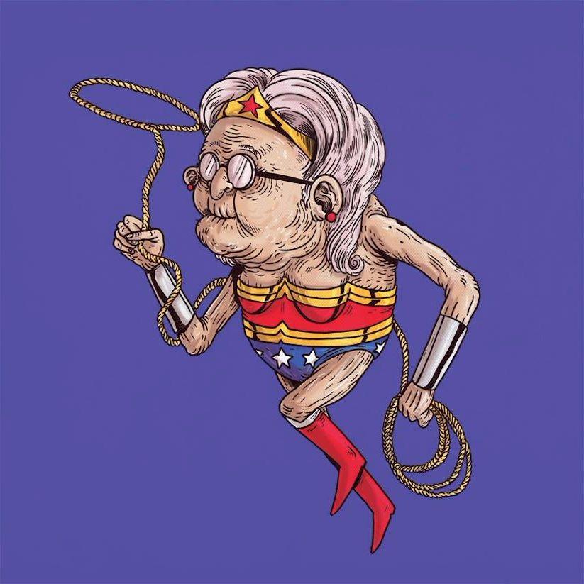 Yaşlı Wonder Woman