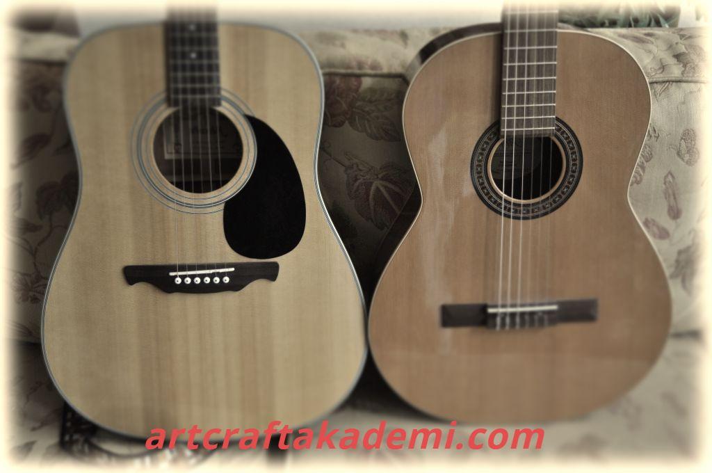Klasik gitar ve akustik gitar