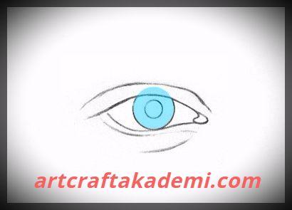 karakalem göz resmi